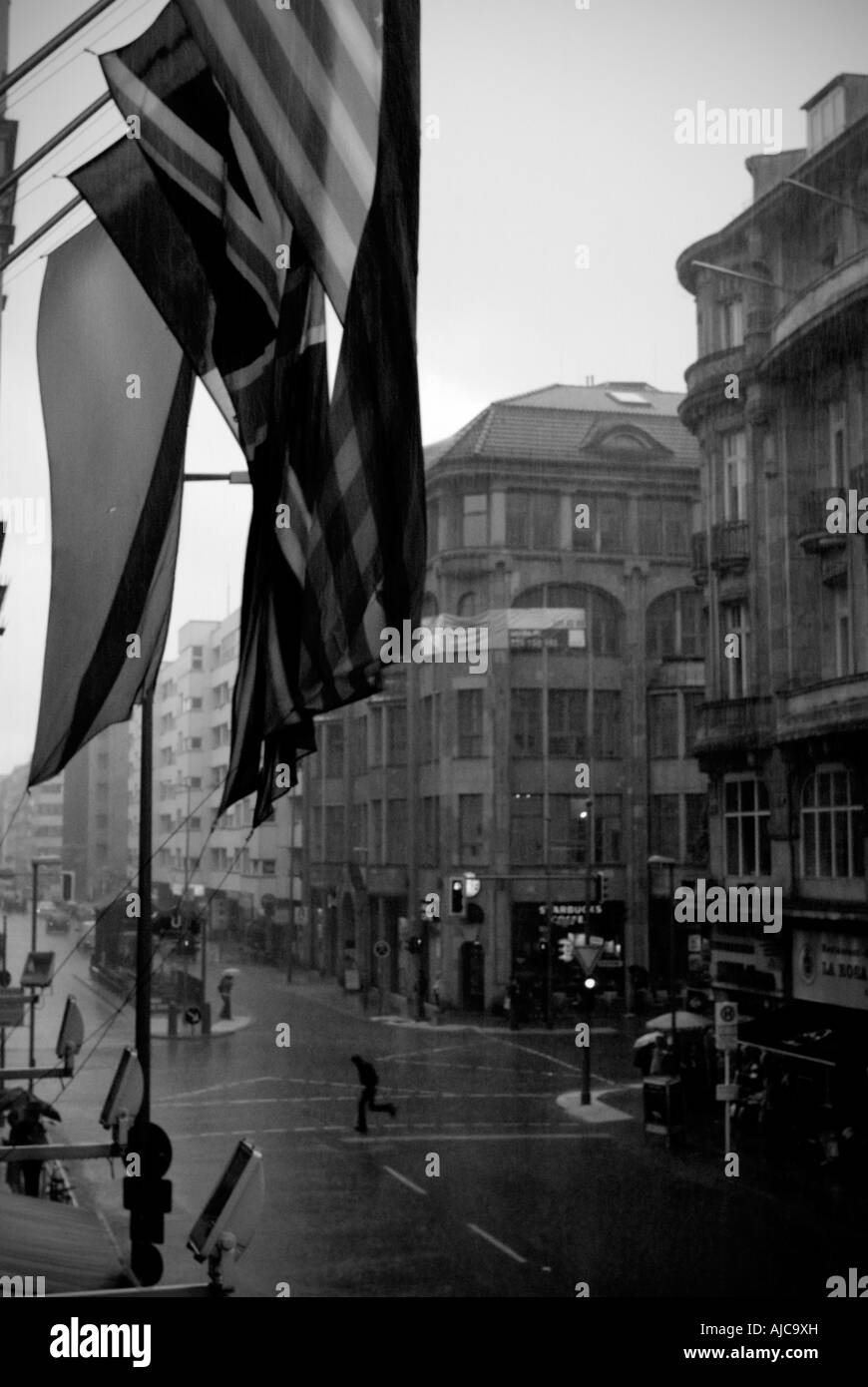 Germany, Berlin 2007, Flags. - Stock Image