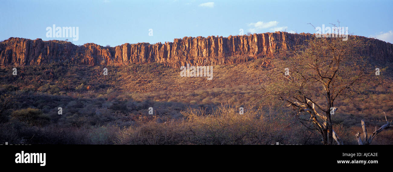 The Waterberg Plateau Namibia A classic tabletop formation with a wildlife reseve on it s plateau Stock Photo