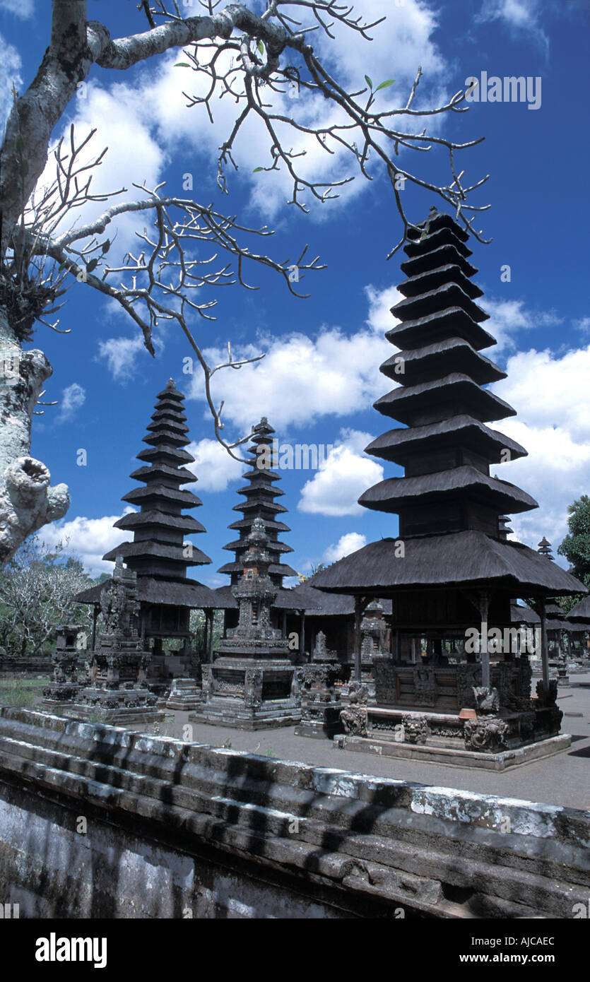 Pura Taman Ayun in Mengwi Bali Once the most important temple in the Mengwi kingdom Oriented towards Gunung Batukau - Stock Image