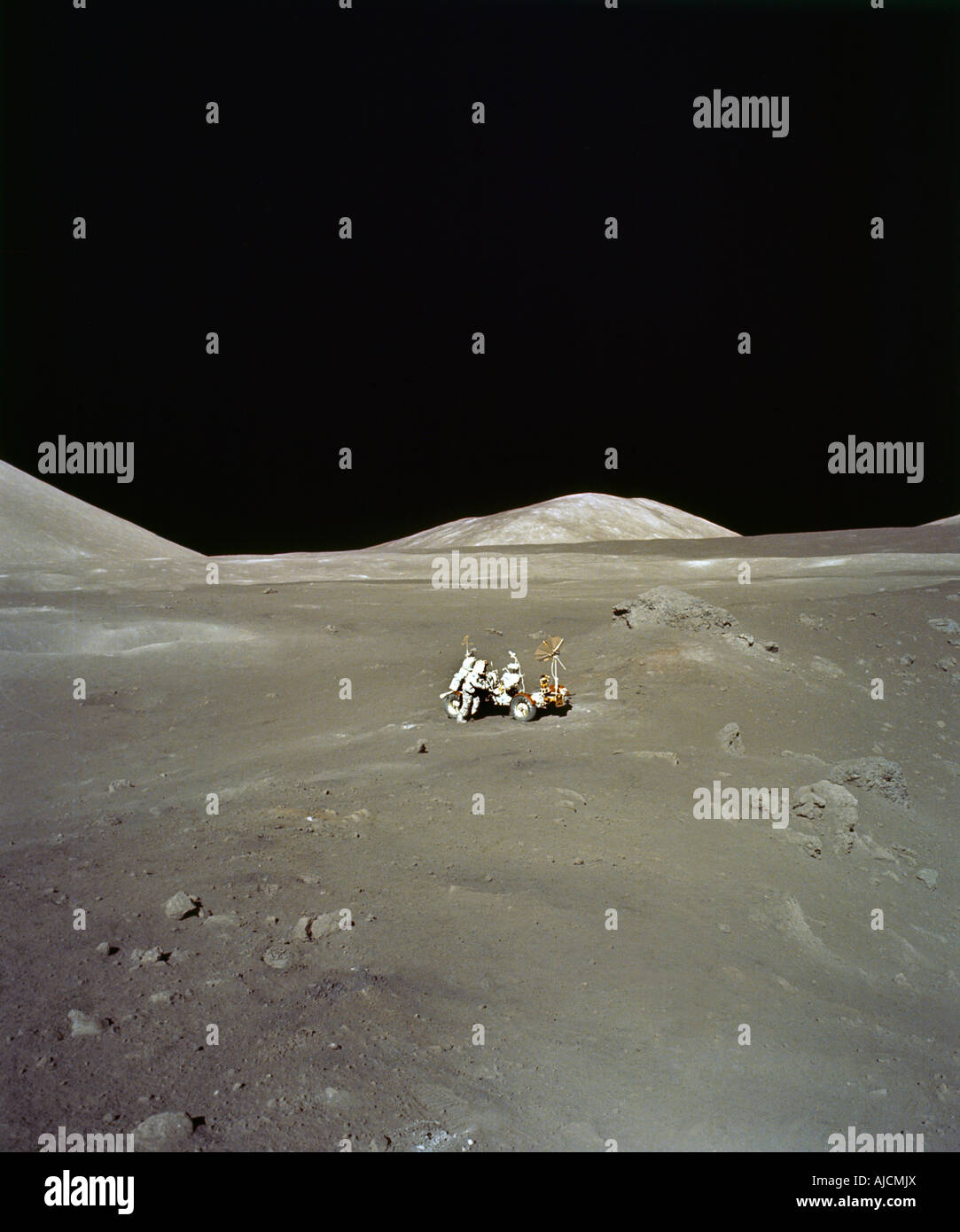 Surfaceof the Moon Apollo 17 - Stock Image