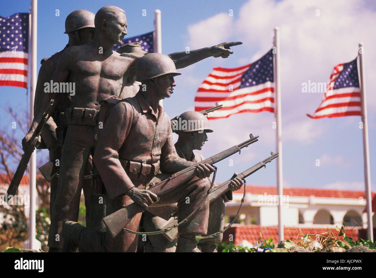 Governor 's Offices Statue in Agana located in Guam Micronesia - Stock Image