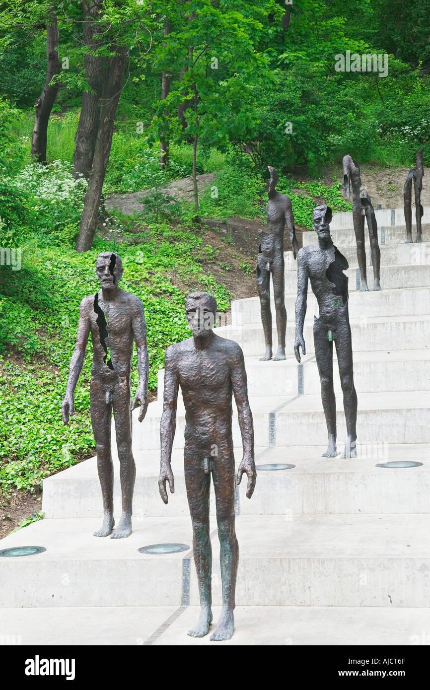 Victims of Communism Memorial by Olbram Zoubek Prague Czech republic Prague is a UNESCO World Heritage Site - Stock Image