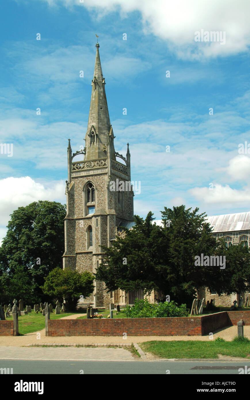 Woolpit parish church - Stock Image