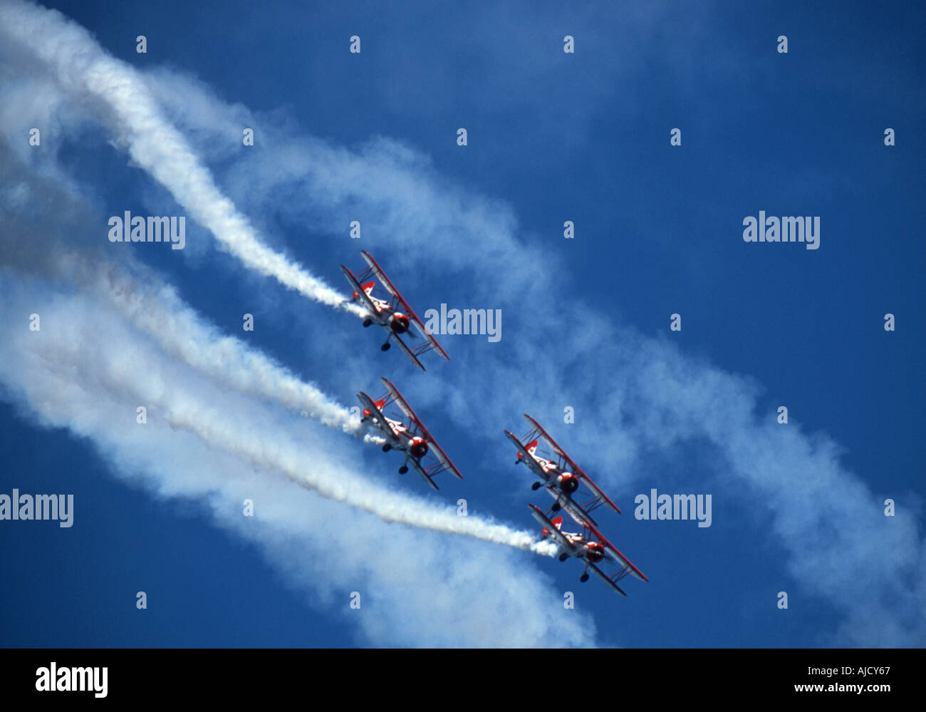 Bi planes Diving - Stock Image