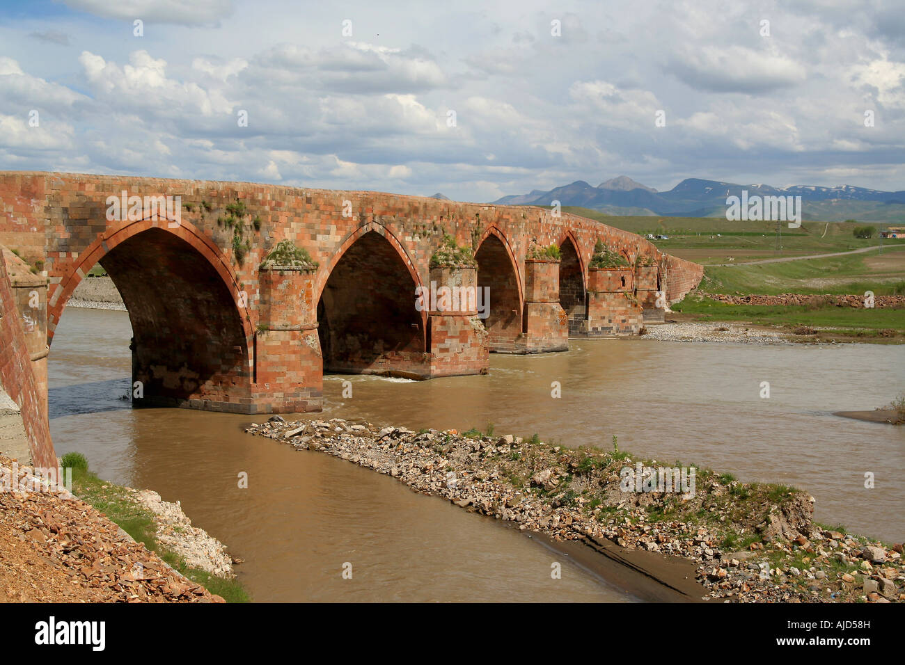 Cobandede Bridge over the Aras, Turkey, East Anatolia - Stock Image