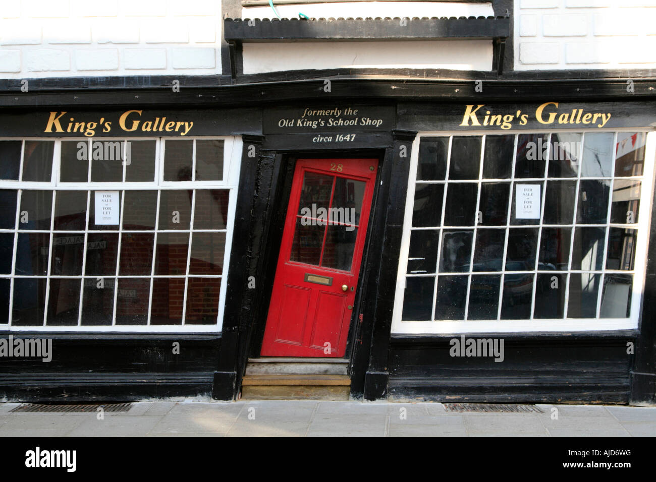 canterbury town centre kings gallery crooked door kent england uk gb & canterbury town centre kings gallery crooked door kent england uk gb ...