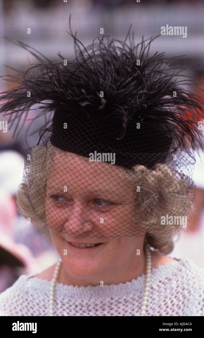 Ladies Day Royal Ascot Horse races racing Berkshire England.  HOMER SYKES - Stock Image