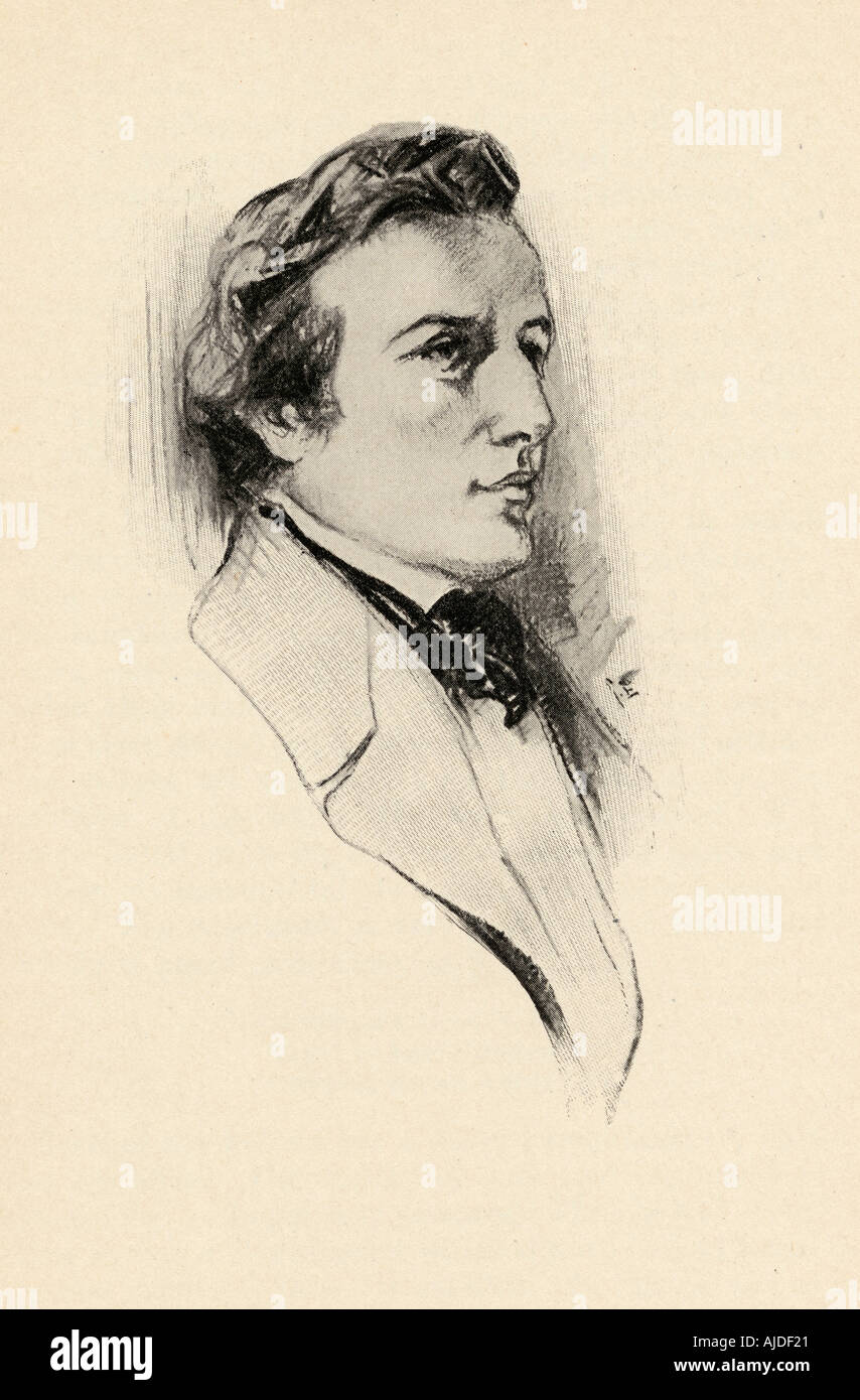 Frédéric François Chopin, 1810 -1849. Polish composer and outstanding pianist - Stock Image