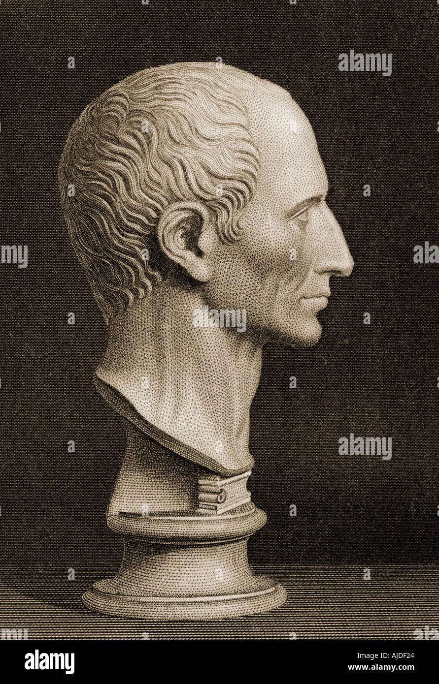 Gaius Julius Caesar, 100BC -  44BC.  The last dictator of Rome. - Stock Image