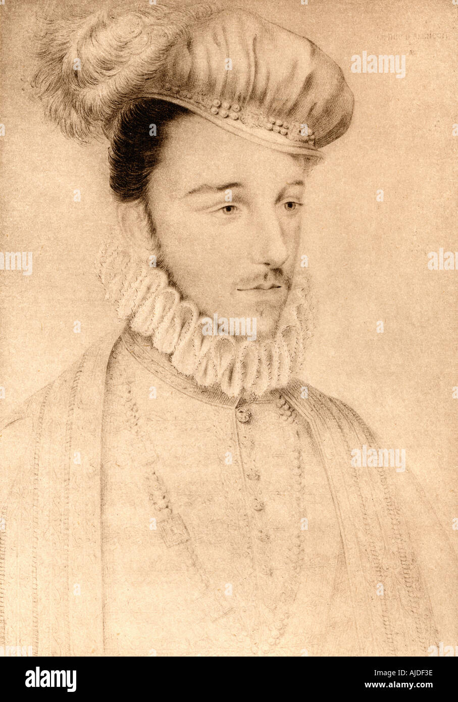 Hercule François de Valois aka Francis, Duke of Anjou and Alençon, 1554 - 1584. Youngest son of Henry II of France and Catherine de' Medici. - Stock Image