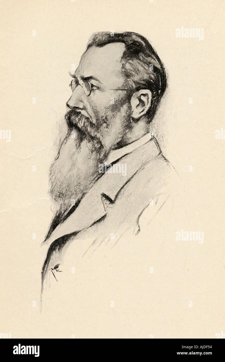 Nikolai Andreyevich Rimsky-Korsakov, 1844 - 1908. Russian composer - Stock Image