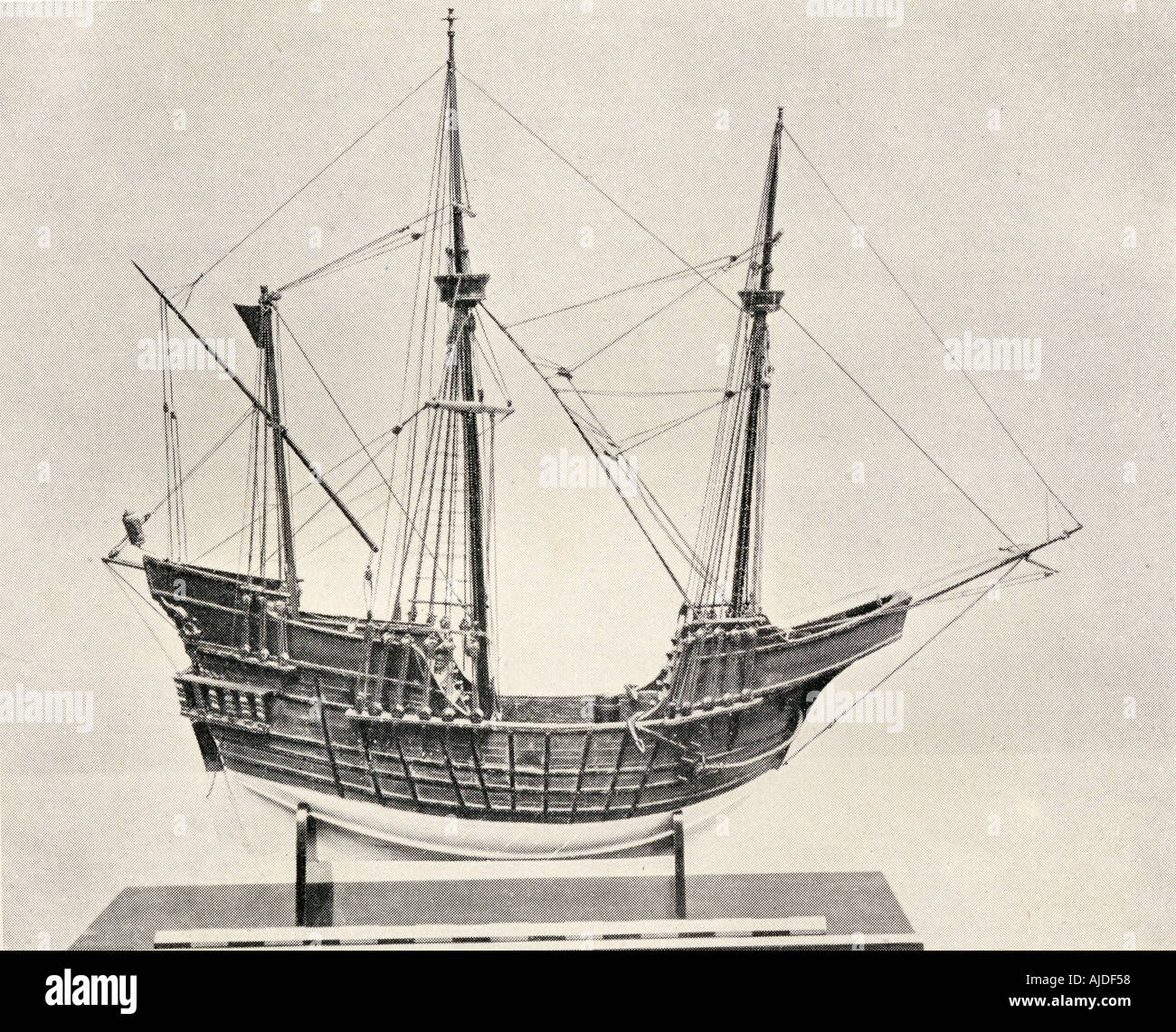 Portuguese Carrack from the 15th century. - Stock Image