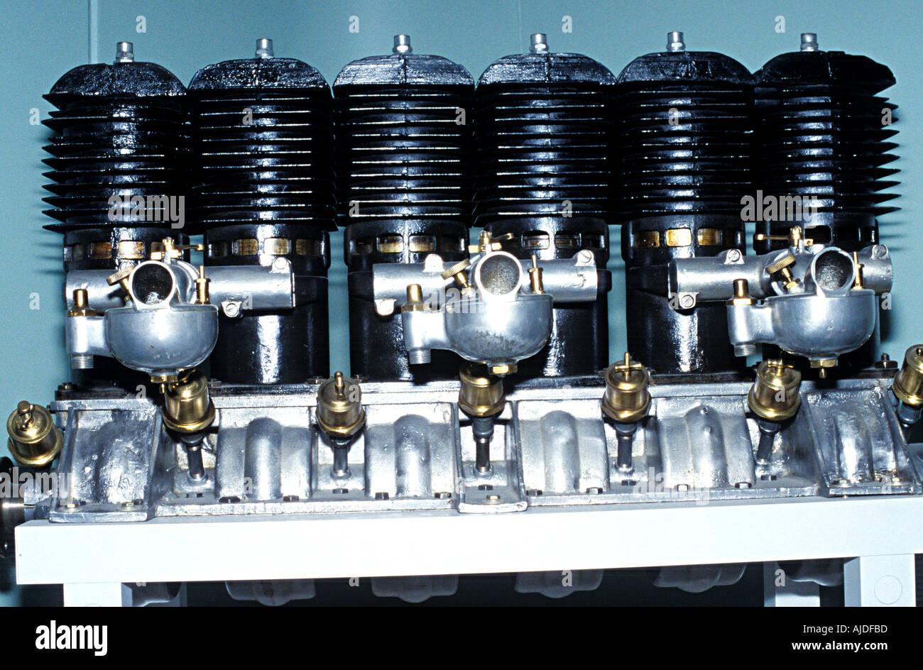 Inline 6 Cylinder Aircraft Engine