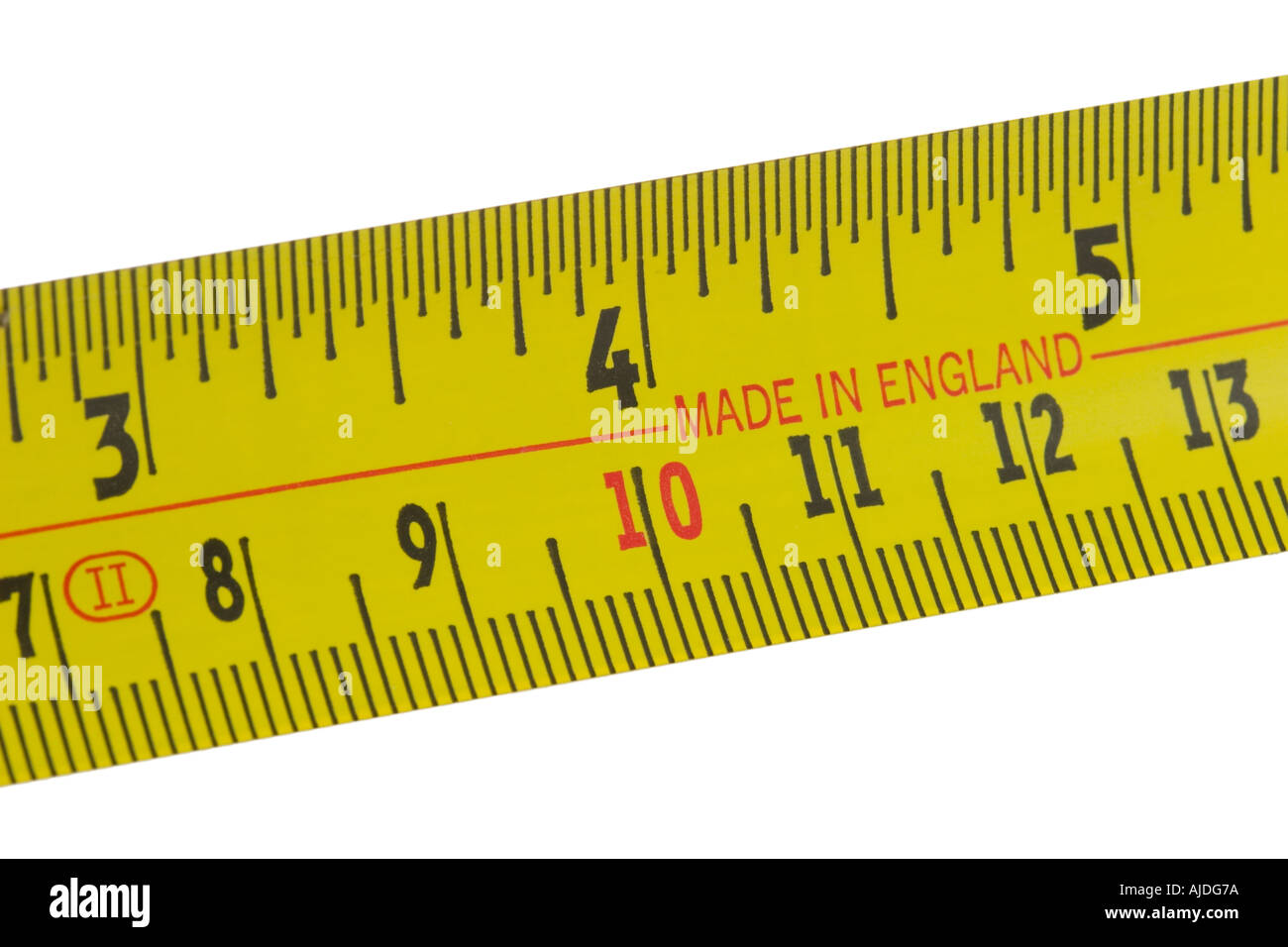 Made in England printed tape measure - Stock Image