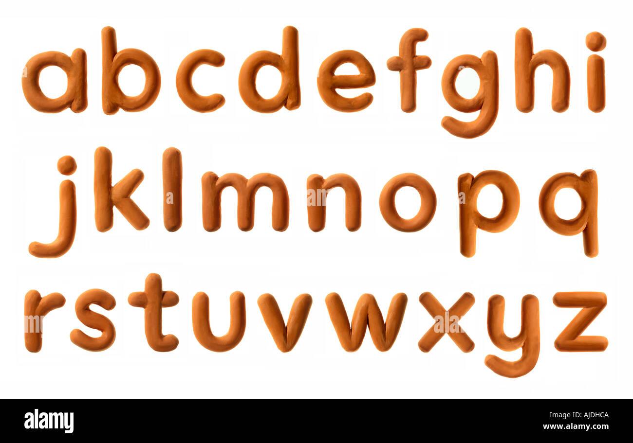 plasticine alphabet - Stock Image