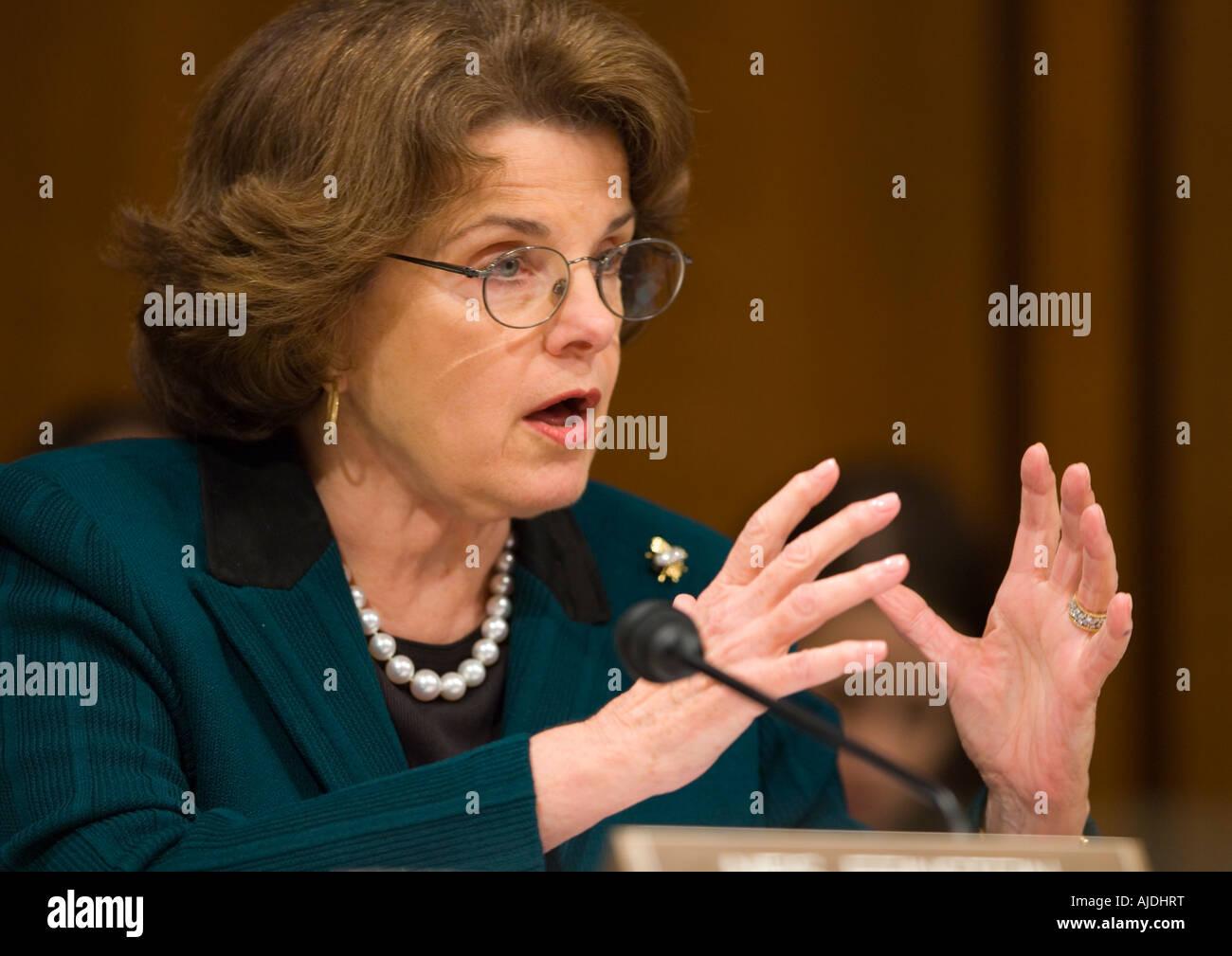 WASHINGTON DC USA U S Senator Dianne Feinstein D CA of the the Senate Judiciary Committee - Stock Image