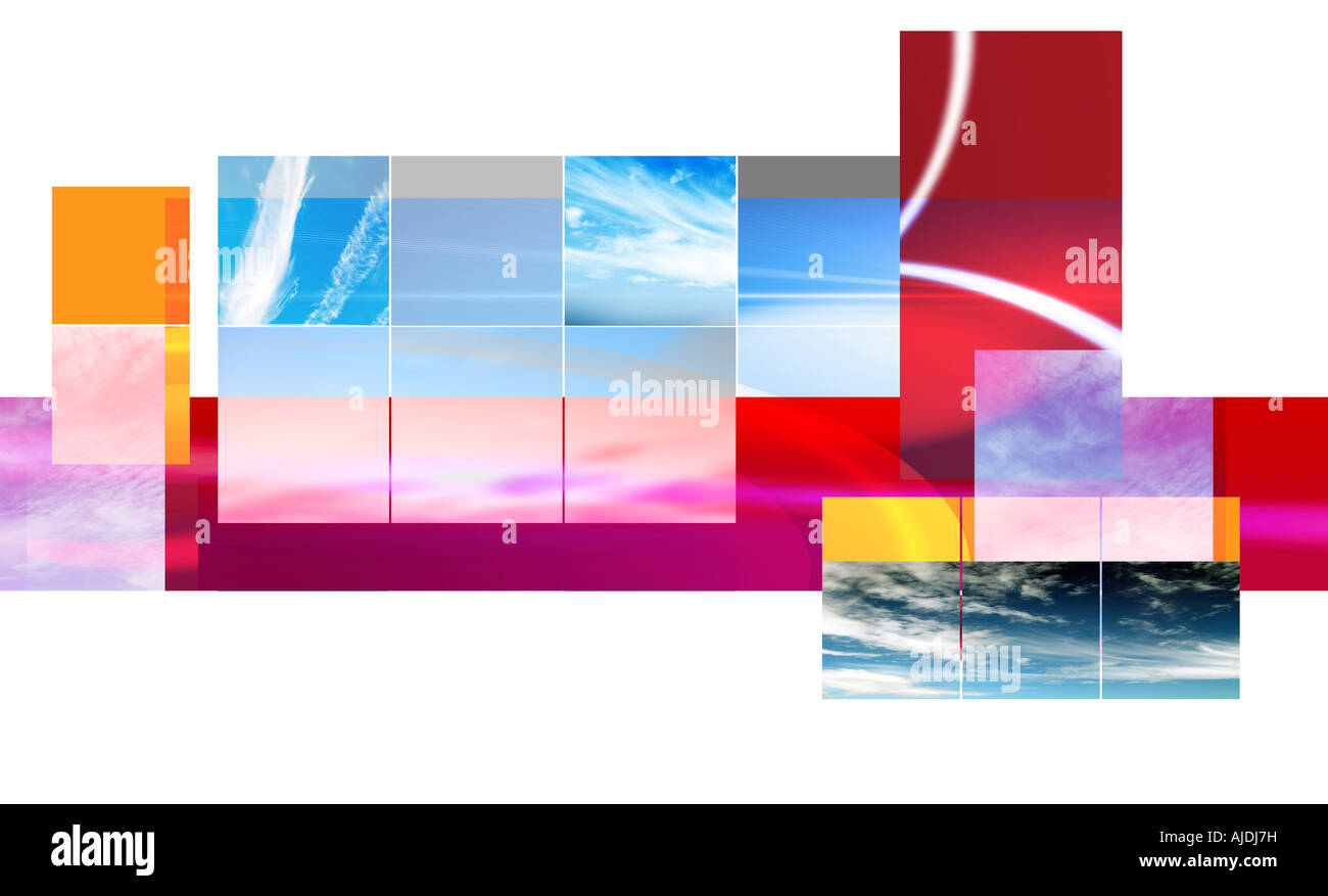 Sky Collage - Stock Image
