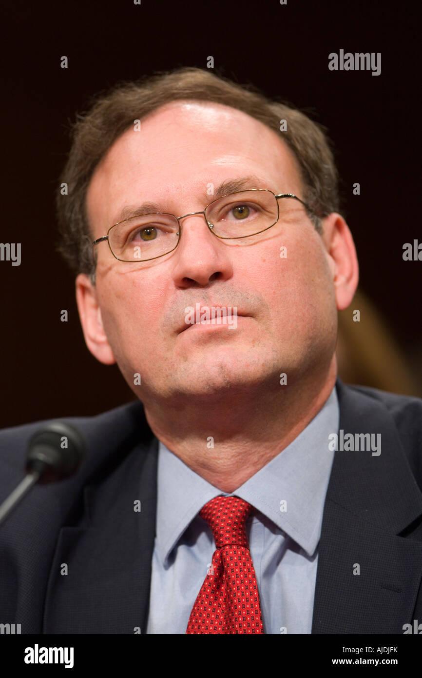 WASHINGTON DC USA Judge Samuel A Alito Jr U S Supreme Court nominee during confirmation hearings before the Senate - Stock Image