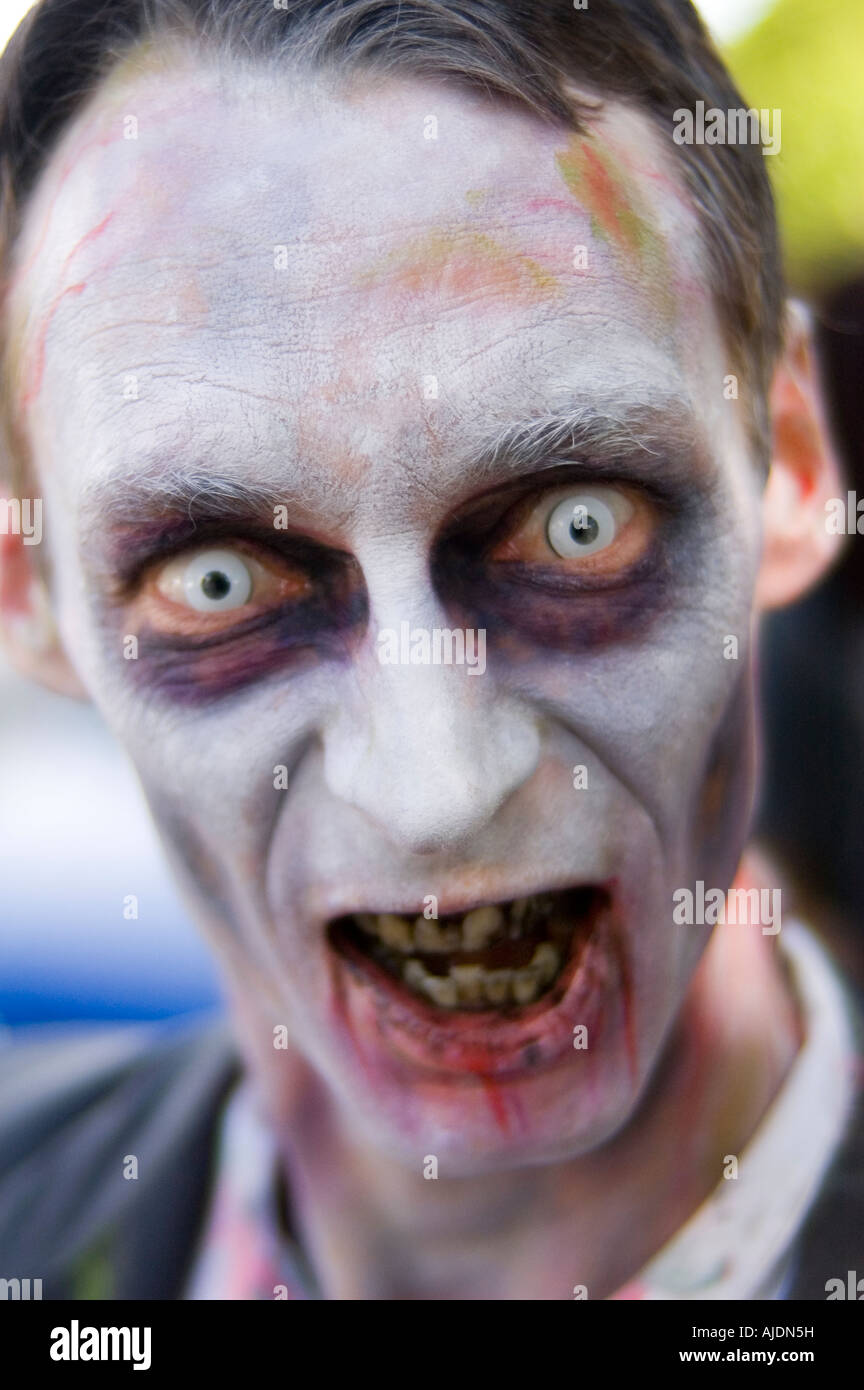 Zombie at the Brisbane Zombie walk - Stock Image