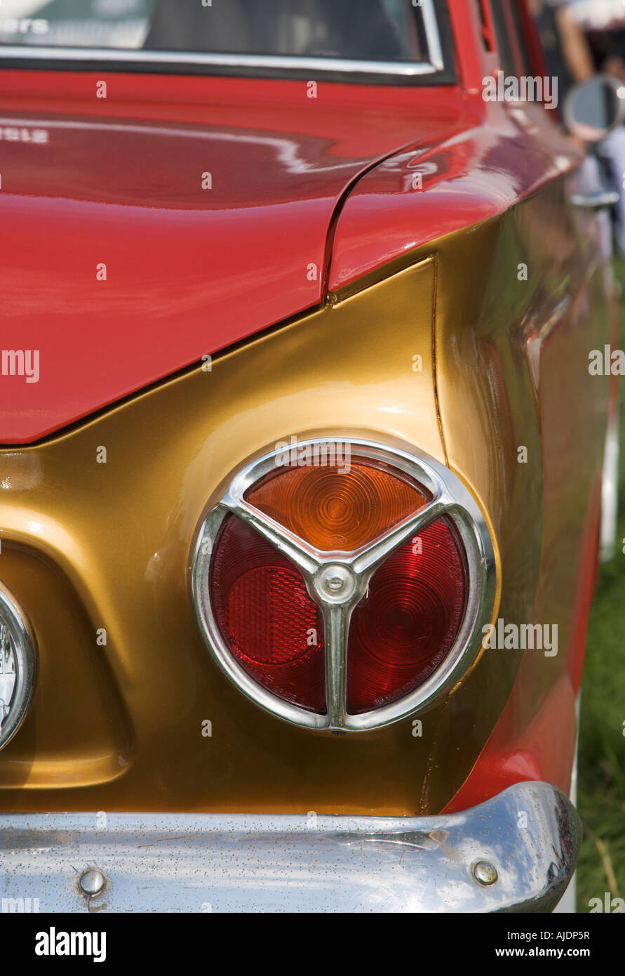 Rear Light Cluster Of Vintage Ford Cortina Car Stock Image