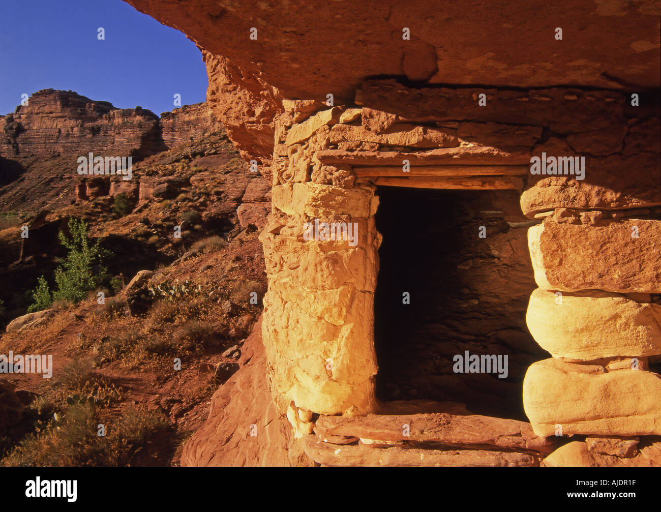 Anasazi Indian Granary Green River Canyonlands National Park Utah - Stock Image