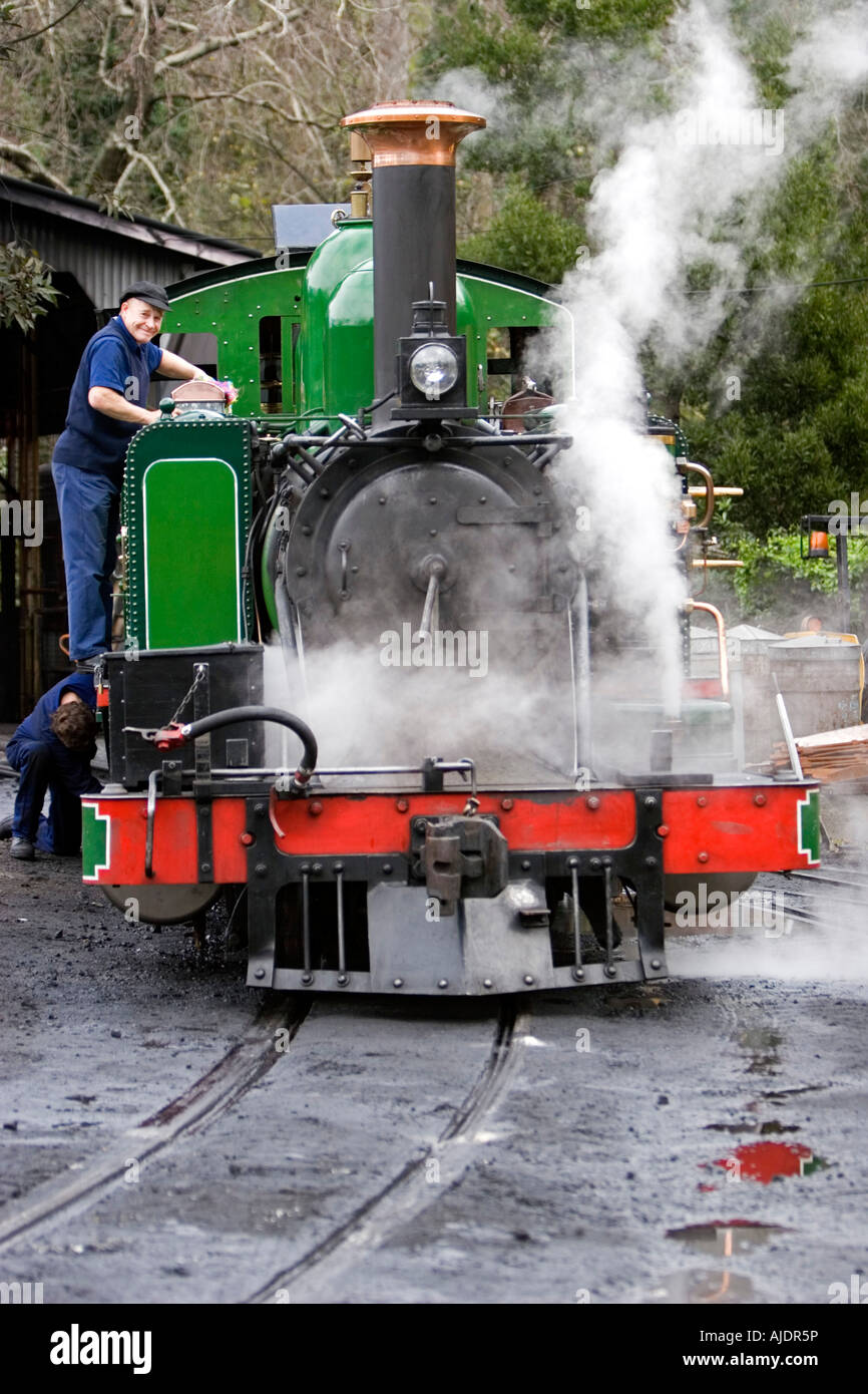 Puffing Billy historic steam railway Melbourne Australia - Stock Image