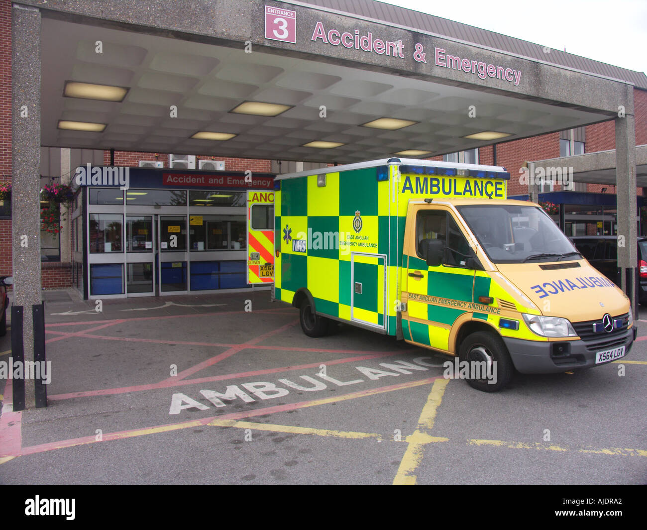 Ambulance accident and emergency Ipswich Hospital Suffolk