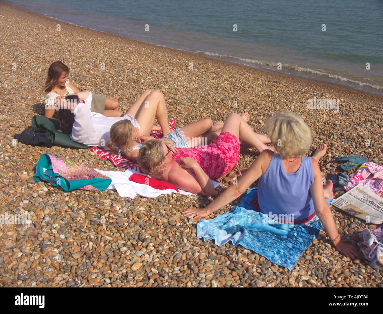 mature ladies on the beach
