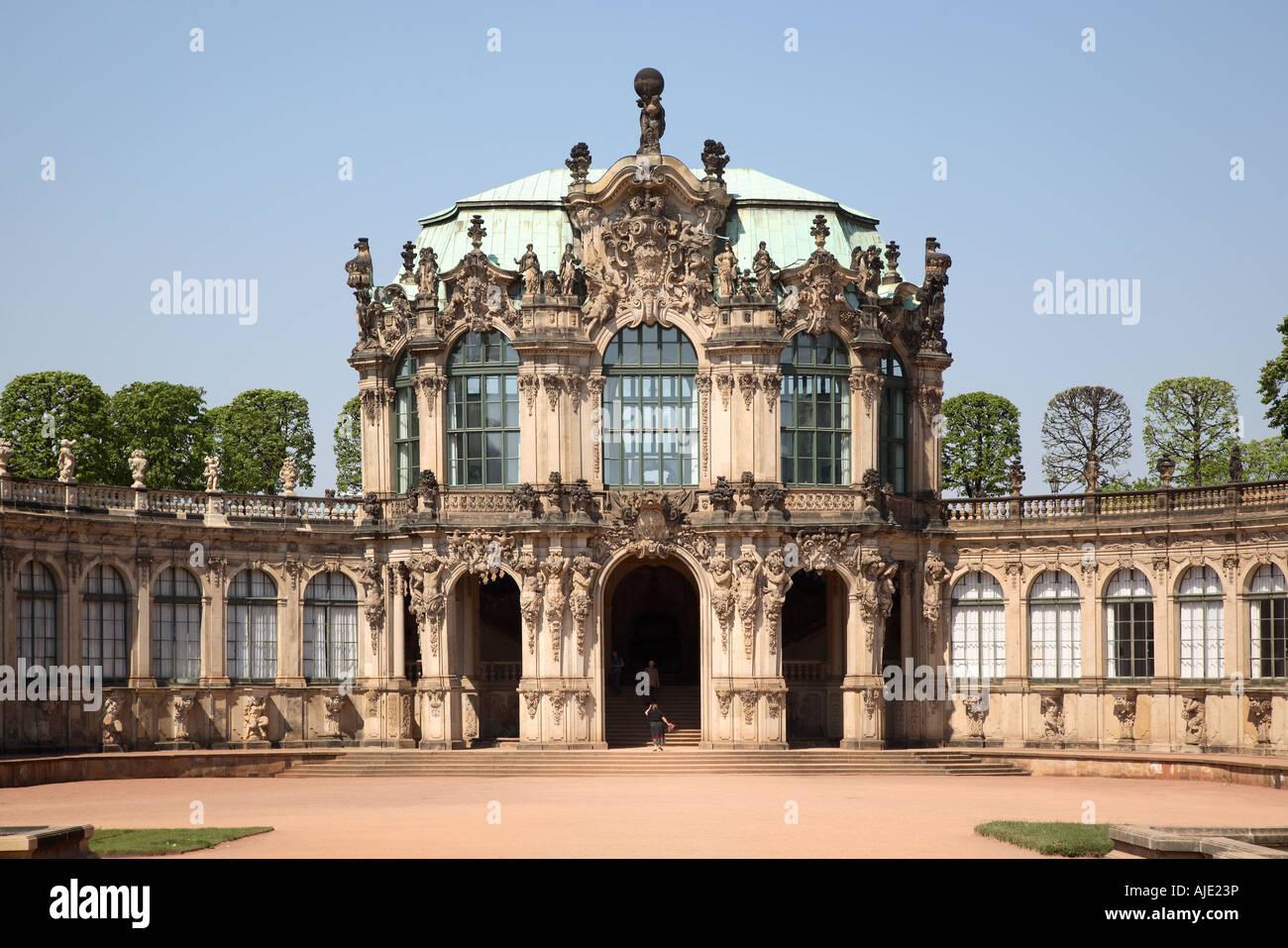 Sachsen Saxony Dresden Zwinger Wallpavillon Wall Pavillon Stock Photo Alamy