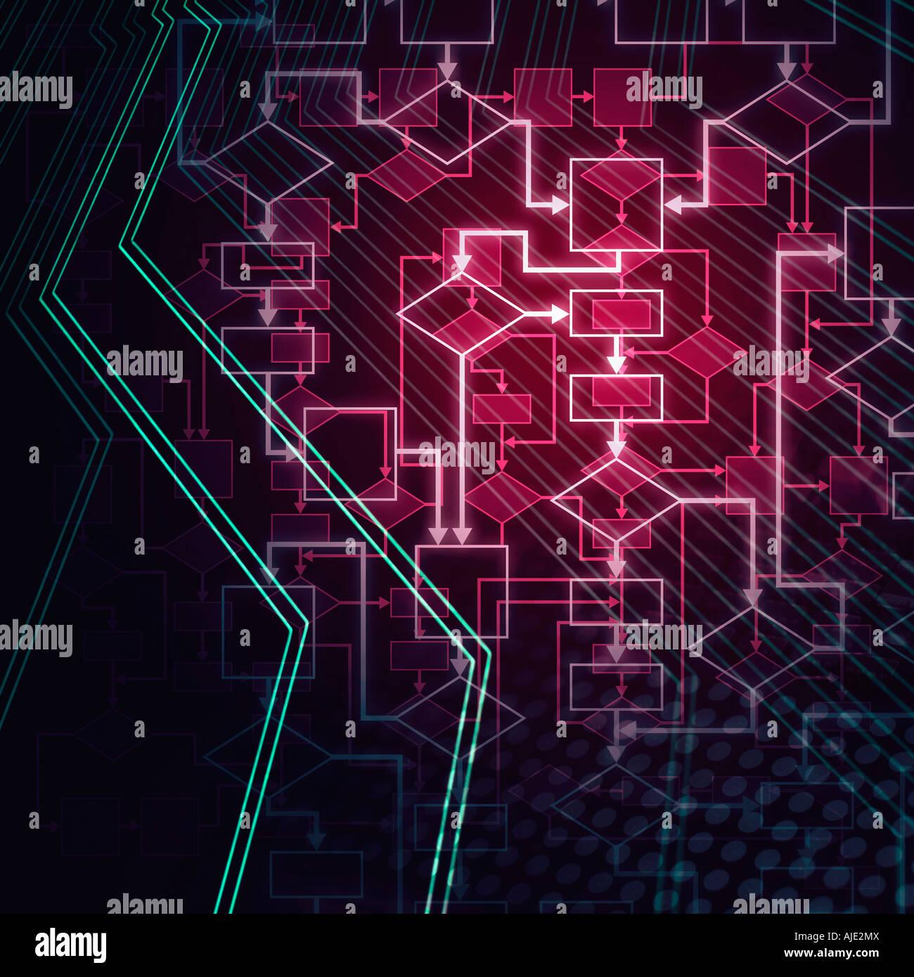 abstract flowchart diagram computer program algorithm