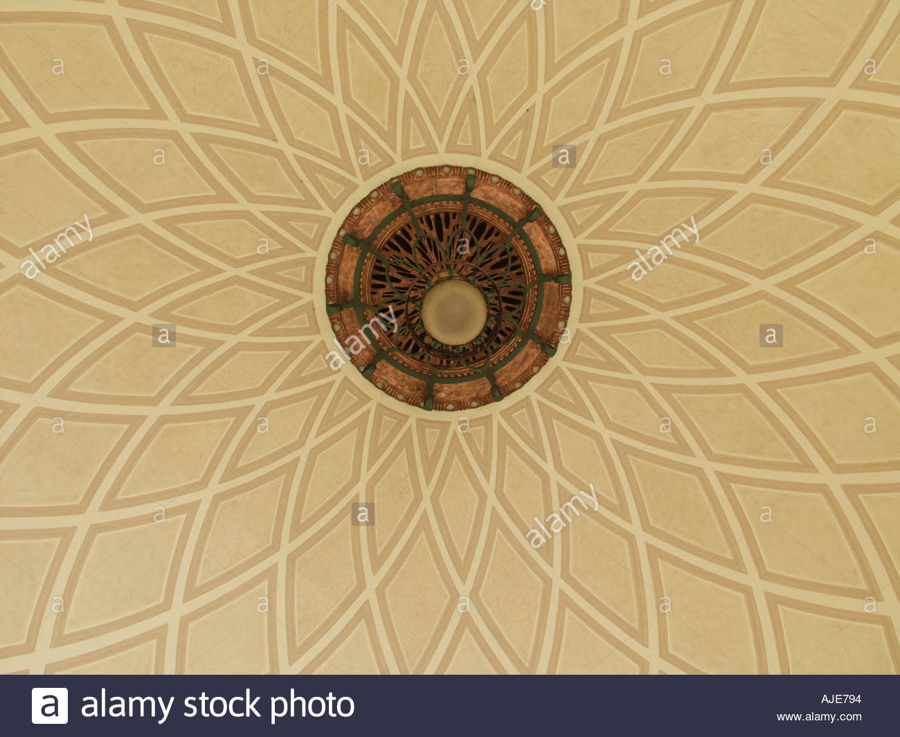 Ceiling and ornament Stock Photo