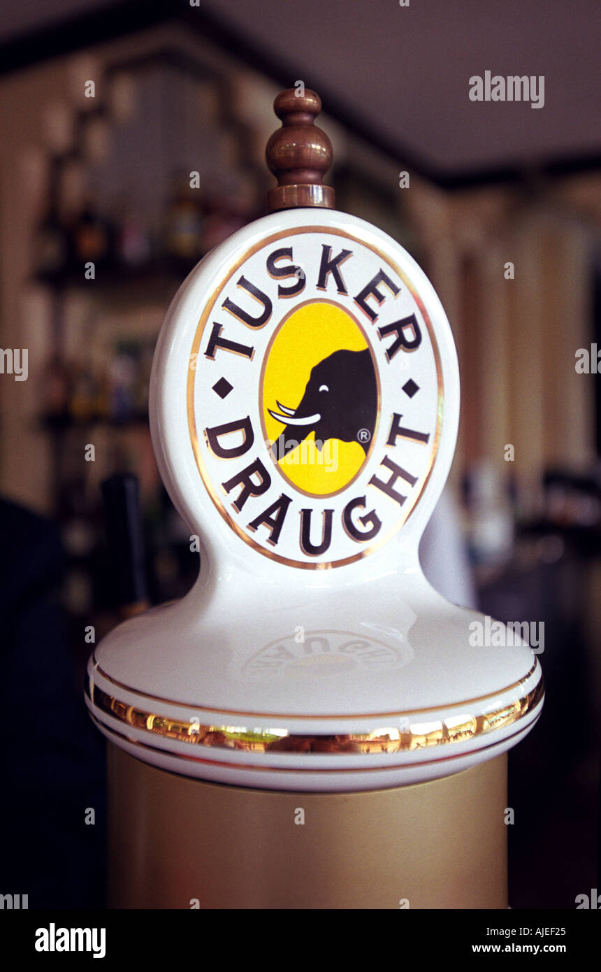 Tusker Draught Beer pump Kenya East Africa Stock Photo: 1240868 - Alamy