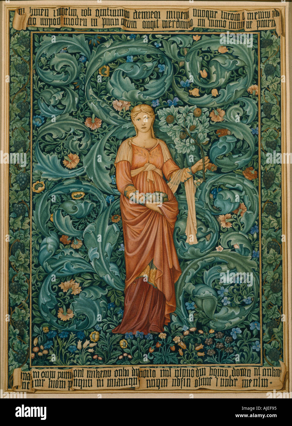 POMONA TAPESTRY at Wightwick Manor West Midlands - Stock Image