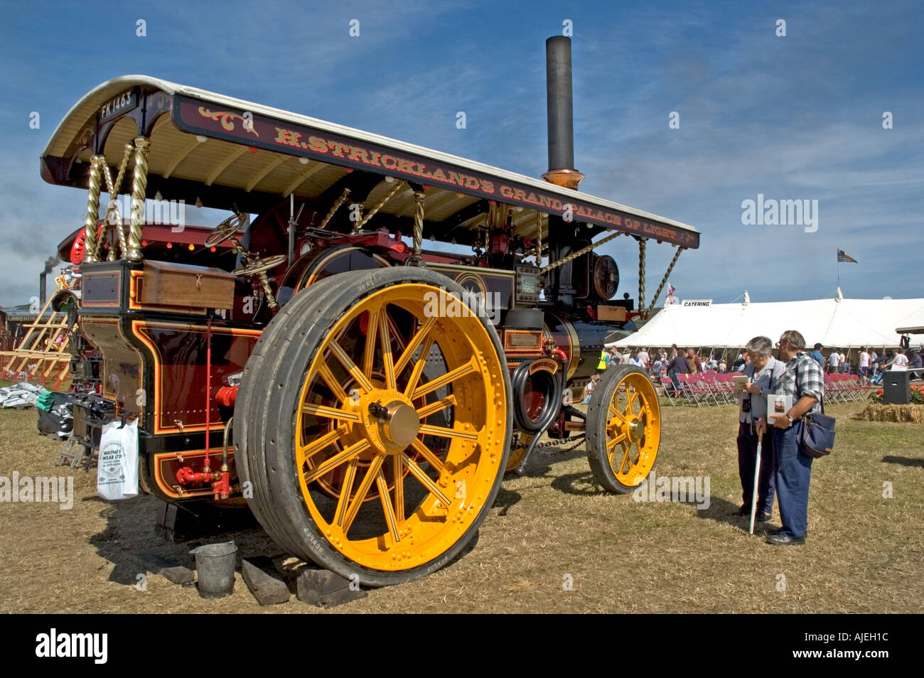 a vintage traction engine - Stock Image