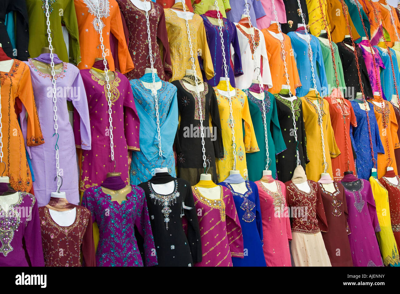 59335dc52d Colourful Sari Clothing Store Little India Singapore - Stock Image