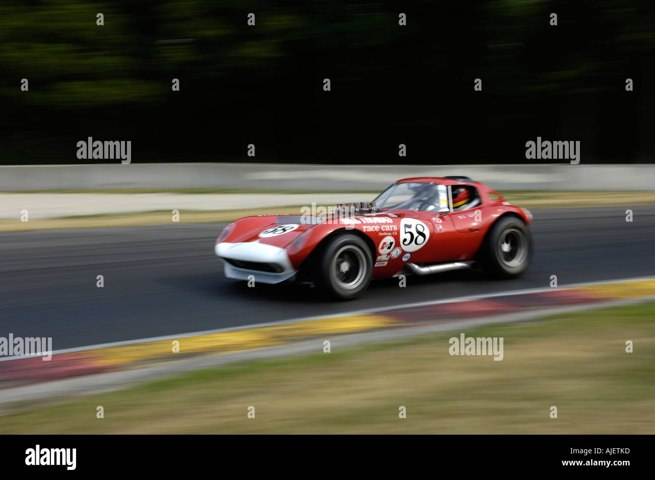 Burt Levy races his 1964 Cheetah at the 2006 Kohler International Challenge with Brian Redman at Road America - Stock Image