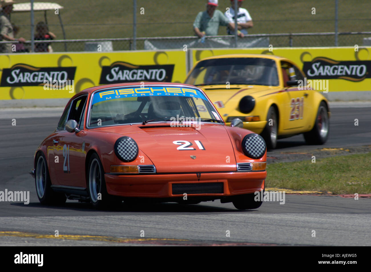 Ed Leed In His 1969 Porsche 911S Is Followed By The 911 Of David