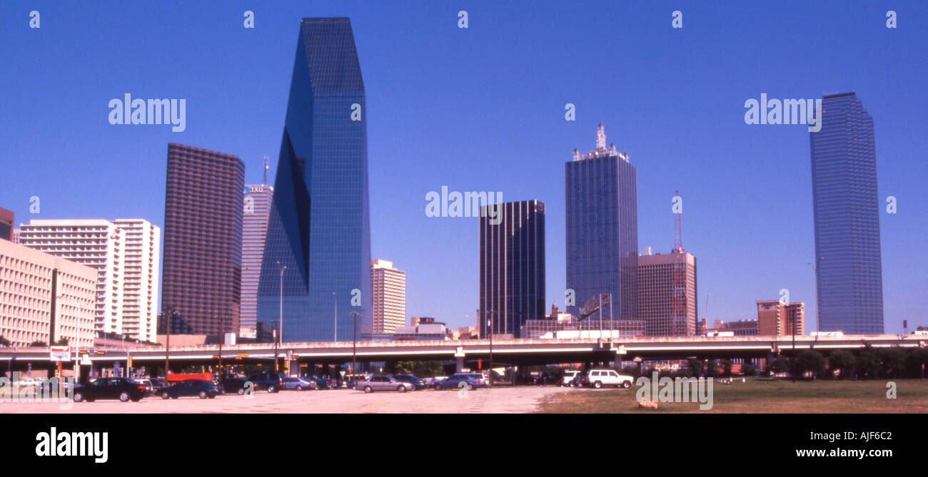 Dallas Texas afternnon downtown - Stock Image