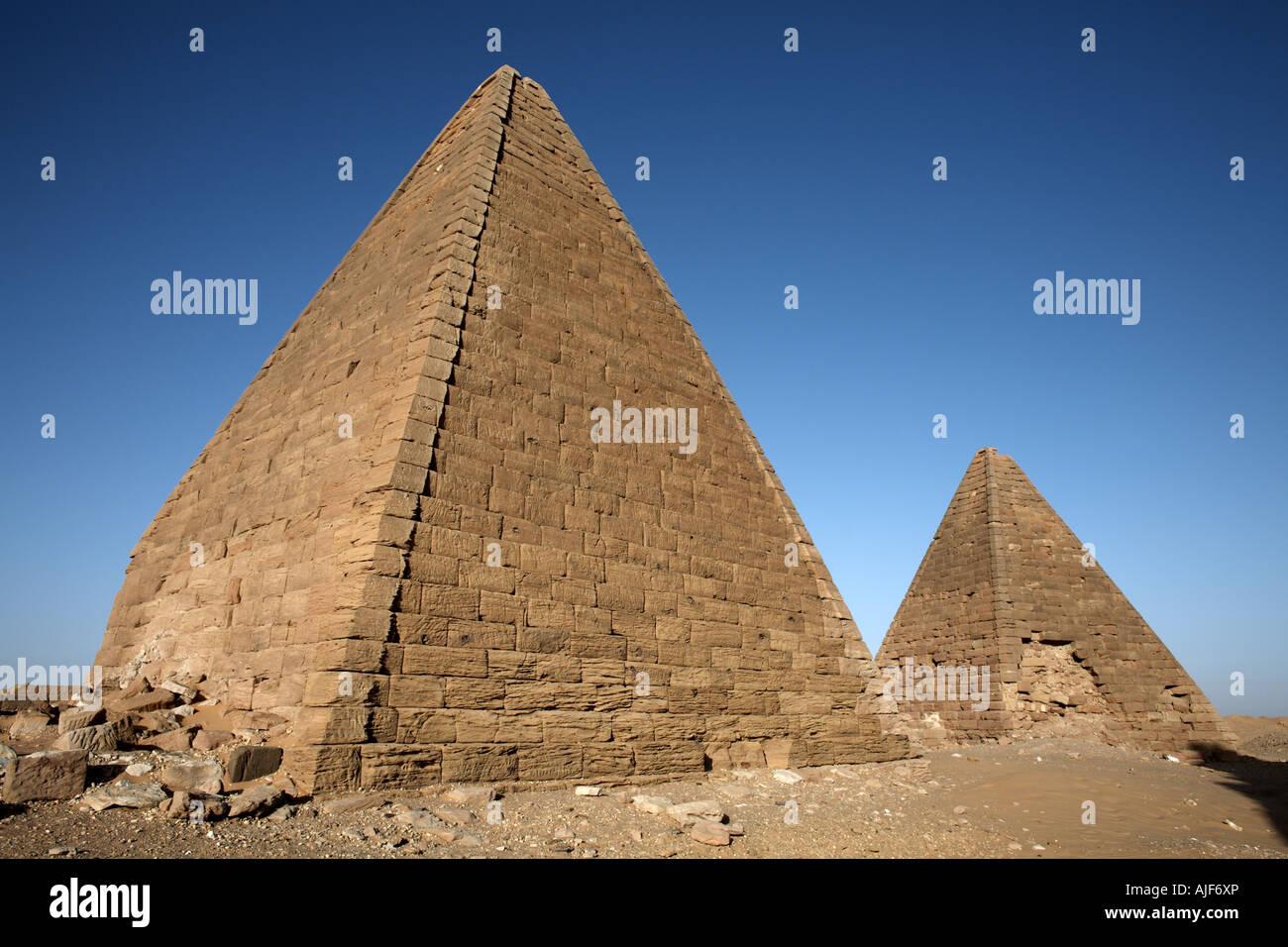 The pyramids at Jebel Barkal - Stock Image