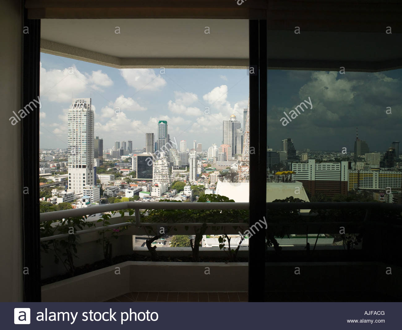Bangkok cityscape from apartment - Stock Image