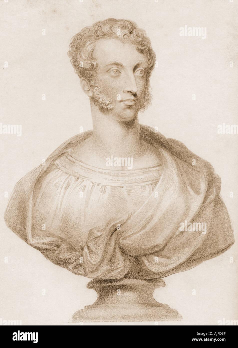 Edward George Earle Lytton Bulwer-Lytton,1st Baron Lytton, 1803 - 1873. English novelist, poet, playwright and politician Stock Photo