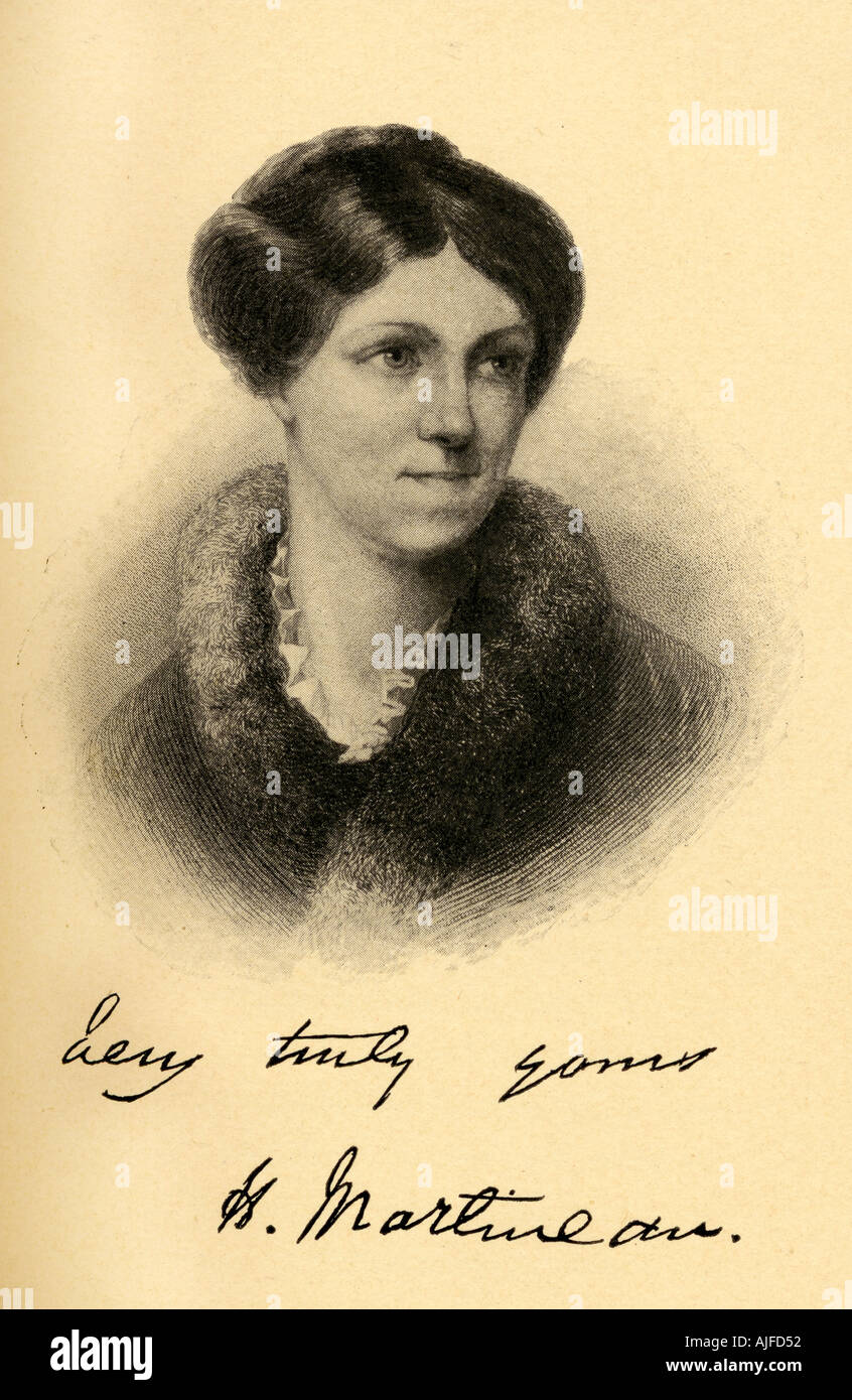 Harriet Martineau 1802 1876 British social theorist, Whig writer, social reformer, author, poet and philosopher. - Stock Image