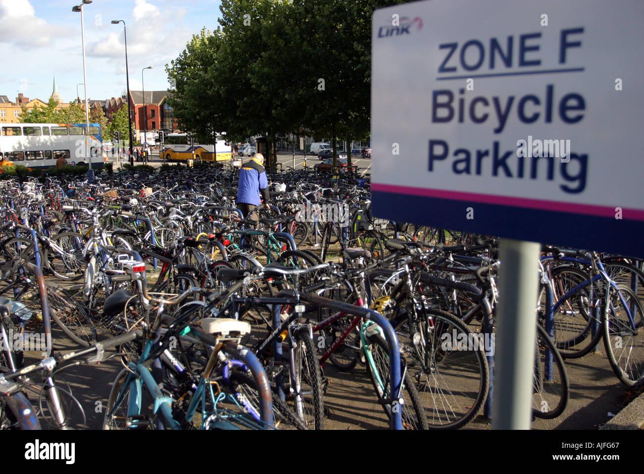 Bike Parking Zone - Stock Image