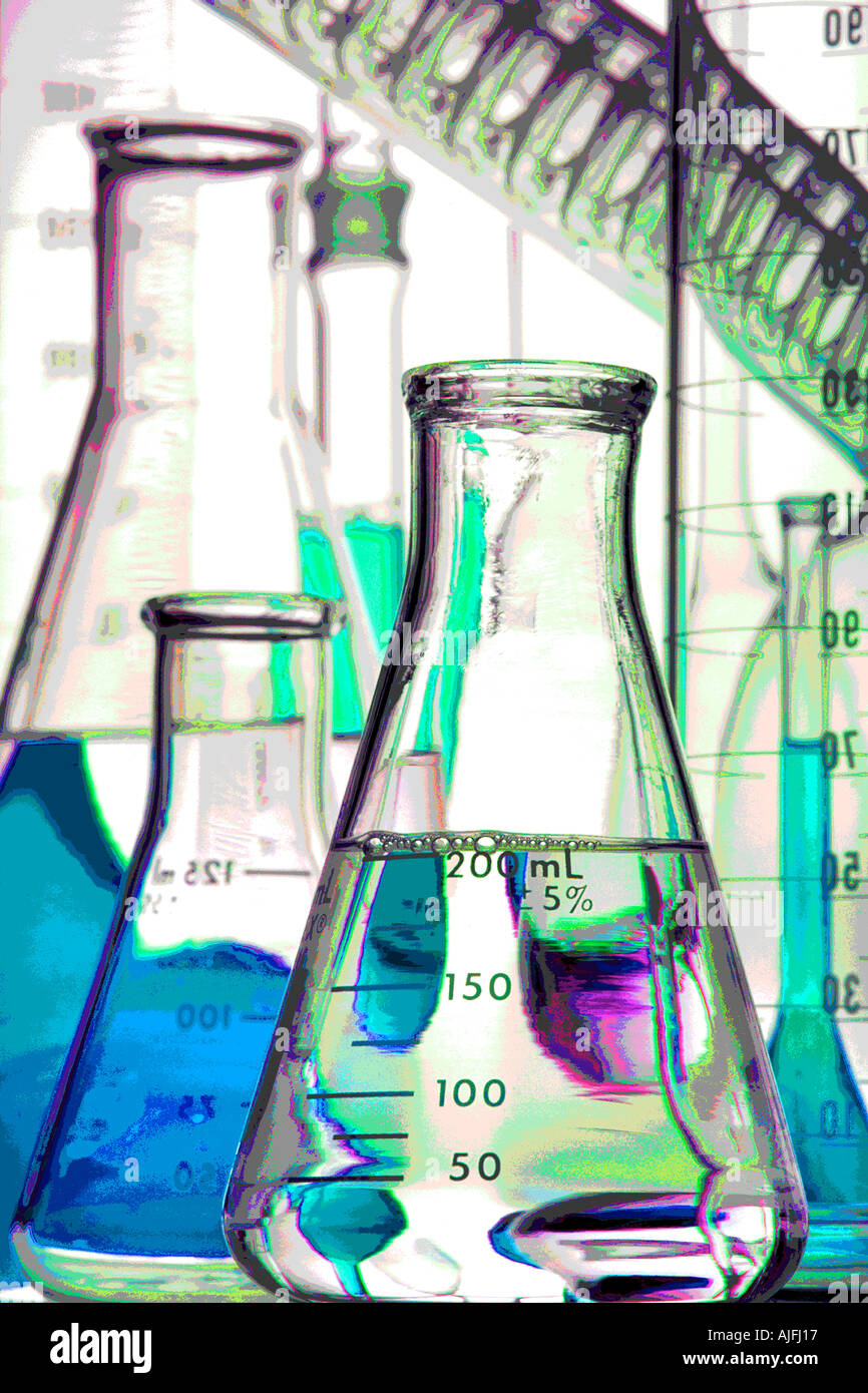 Chemical Glassware Pictorial Stock Photo