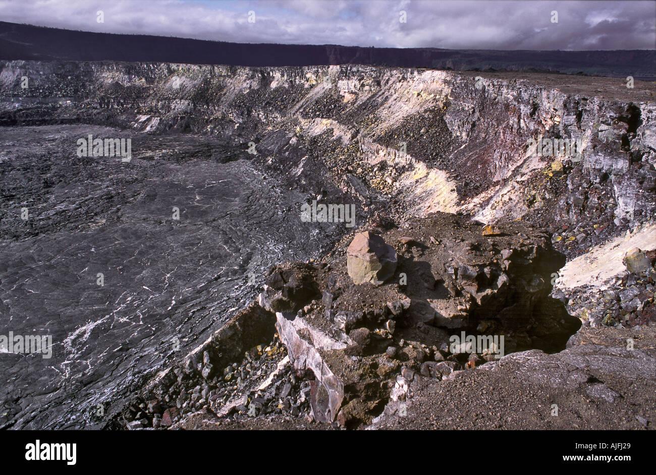 Halema uma u Crater Kilauea Caldera Hawaii - Stock Image