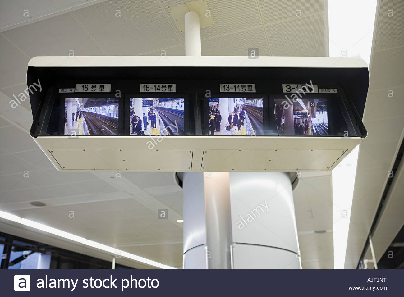 Surveillance in a railway station - Stock Image