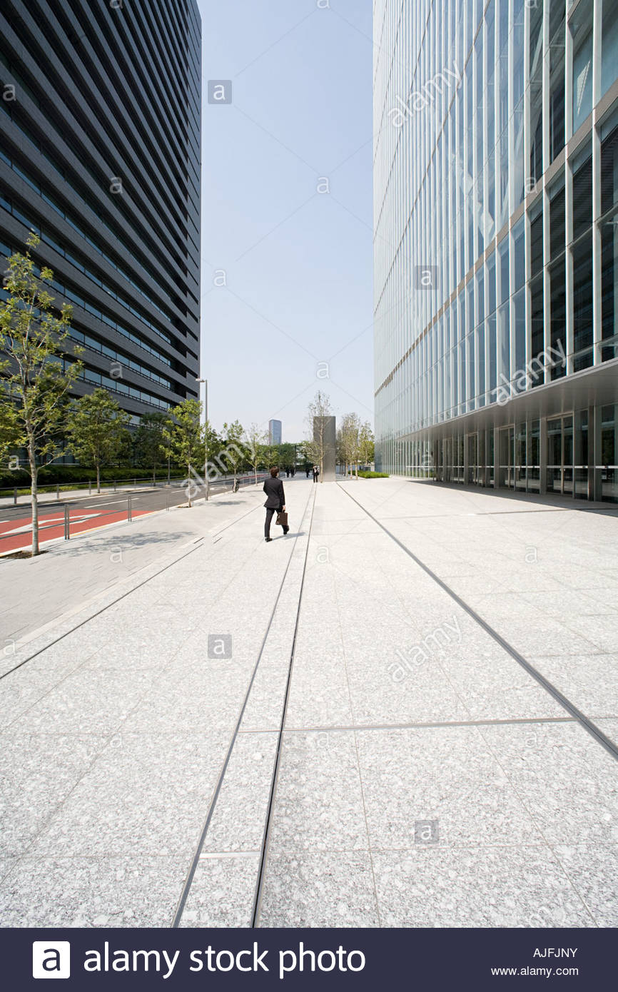 Street and office buildings - Stock Image