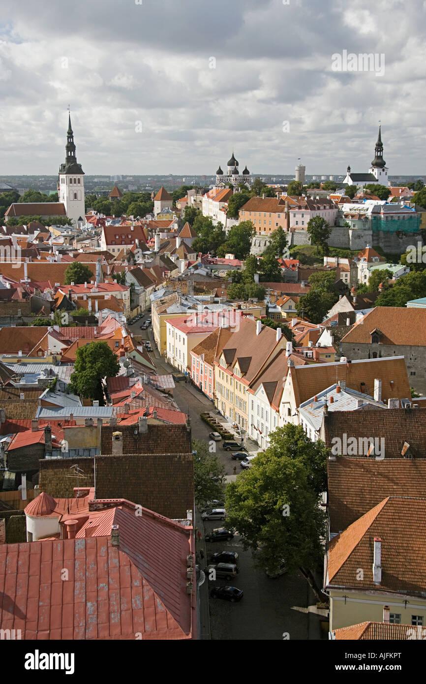 Tallinn cityscape - Stock Image