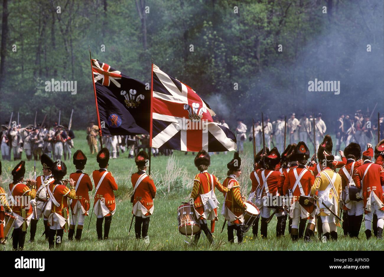 Revolutionary War Reenactment Historical Morristown New Jersey - Stock Image