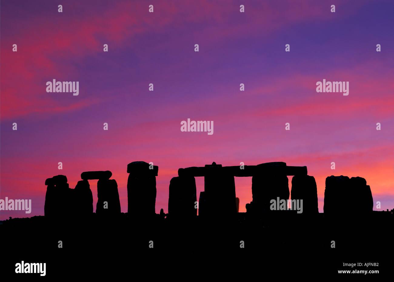 Stonehenge Sunrise England - Stock Image